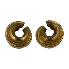 Vaubel Gilt Swirl Earrings