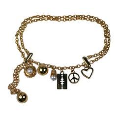 "Moschino ""Charm"" Belt/ Necklace"