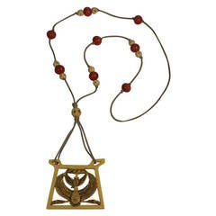 Art Deco Egyptian Revival Pendant Necklace