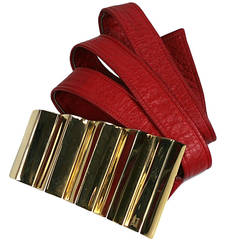 "Alexis Kirk ""Pleated"" Buckled Belt"