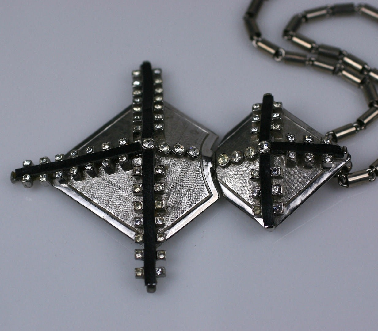 castlecliff leather and paste pendant for sale at 1stdibs