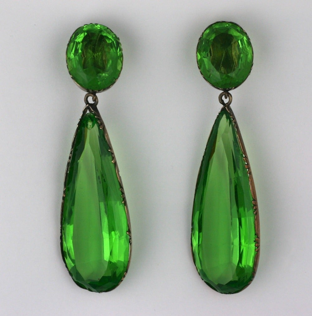 Exceptional Georgian Paste Earrings, ex. Lillian Gish 4