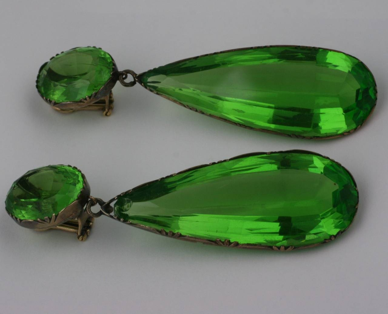 Exceptional Georgian Paste Earrings, ex. Lillian Gish 5