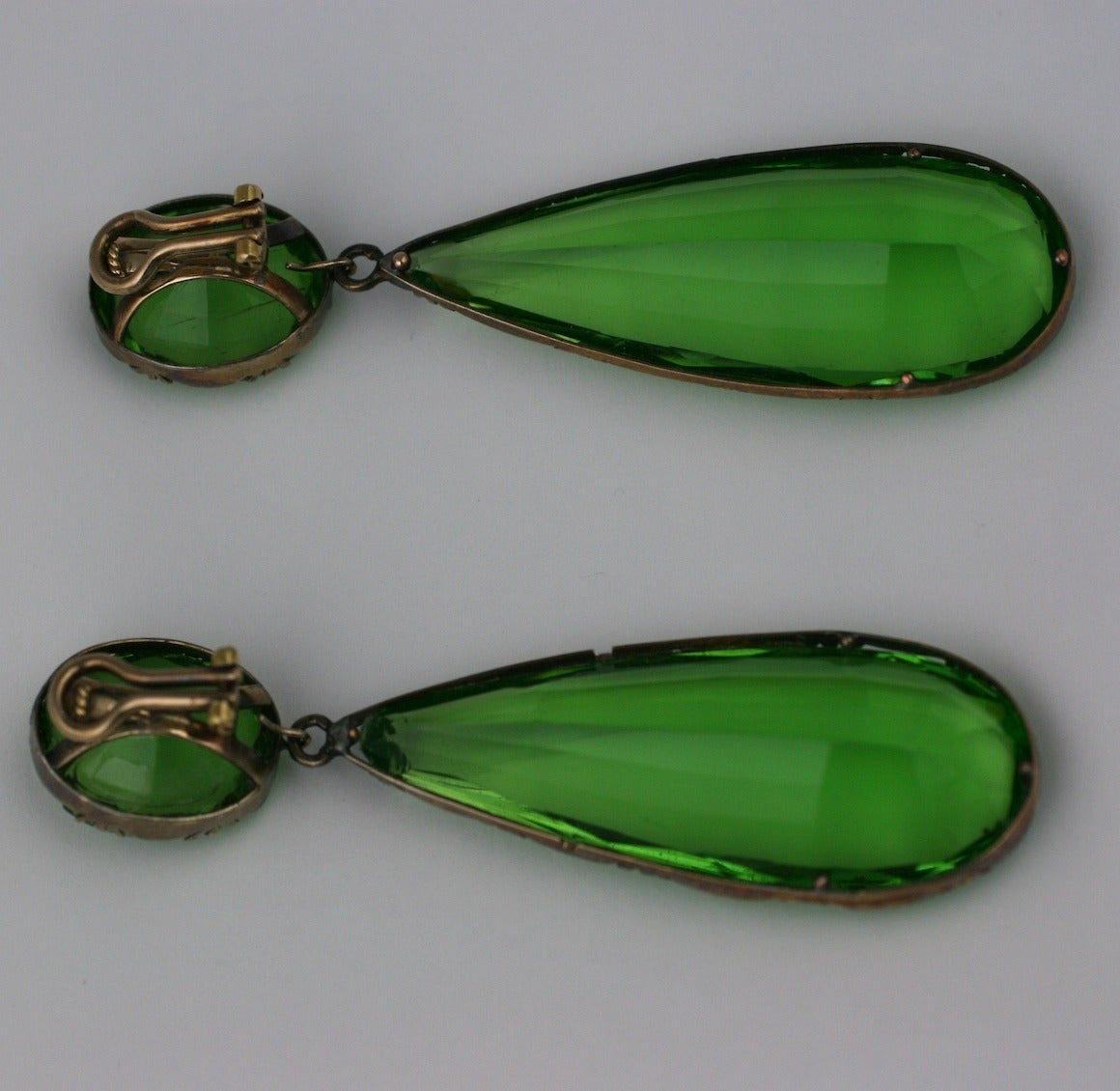 Exceptional Georgian Paste Earrings, ex. Lillian Gish 6
