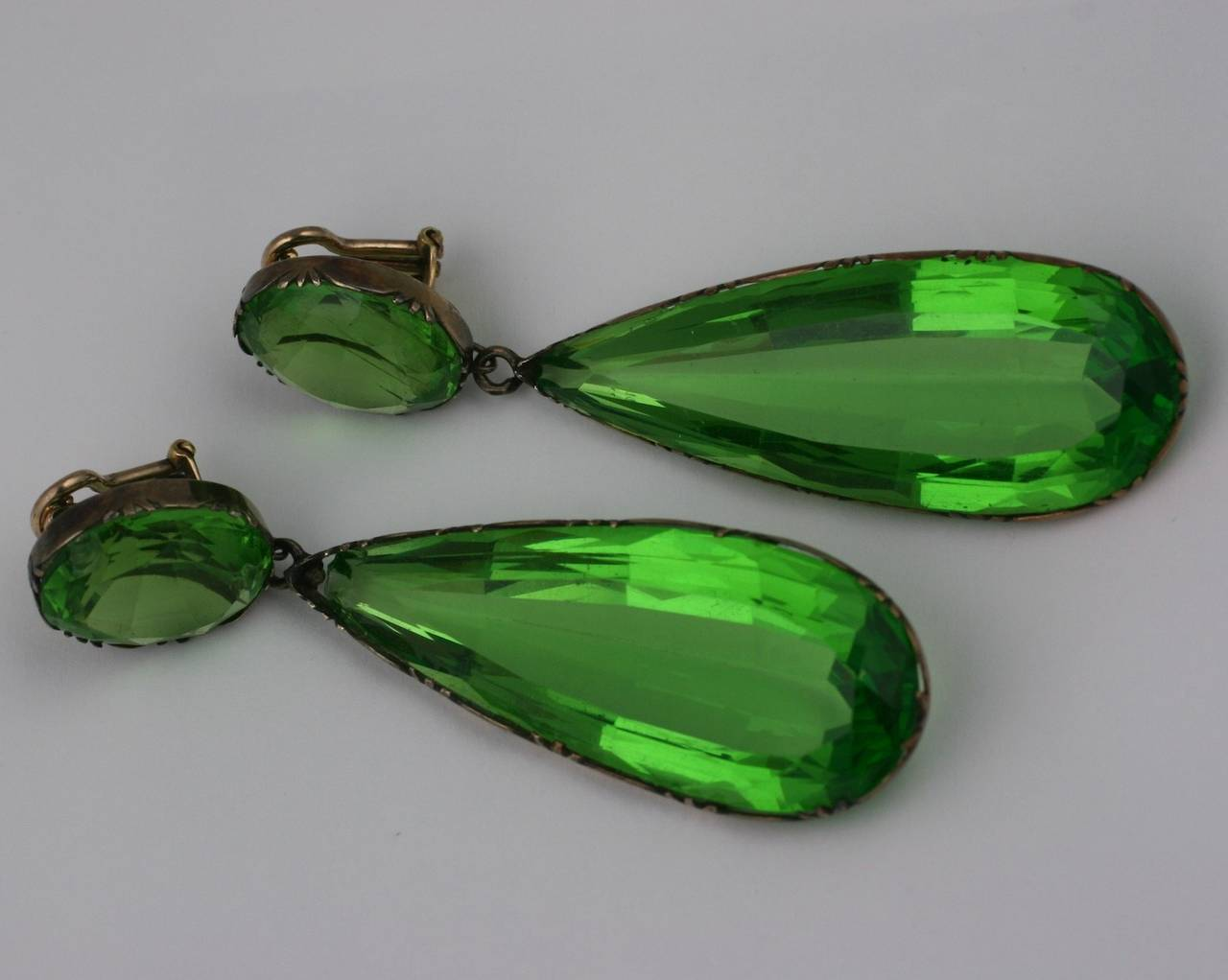 Exceptional Georgian Paste Earrings, ex. Lillian Gish 7