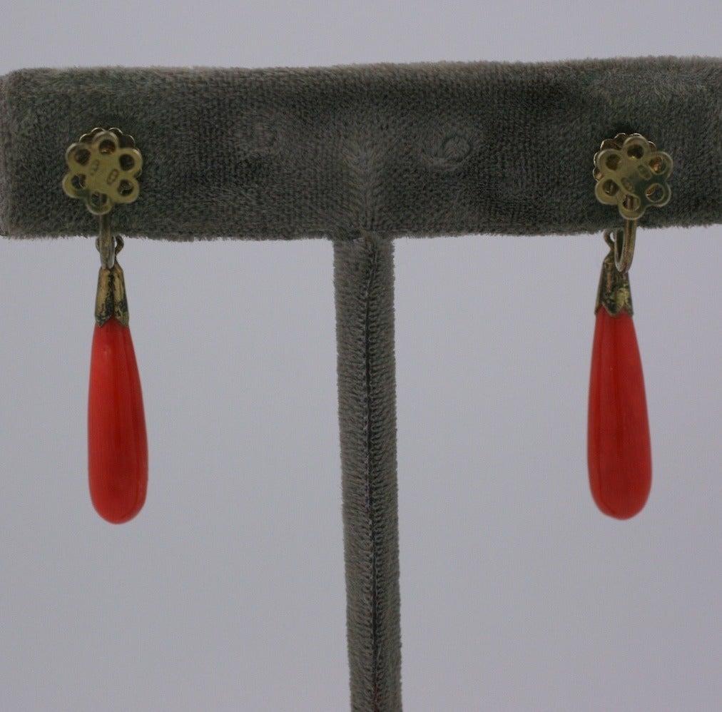 Deco Coral Drop Earrings 2