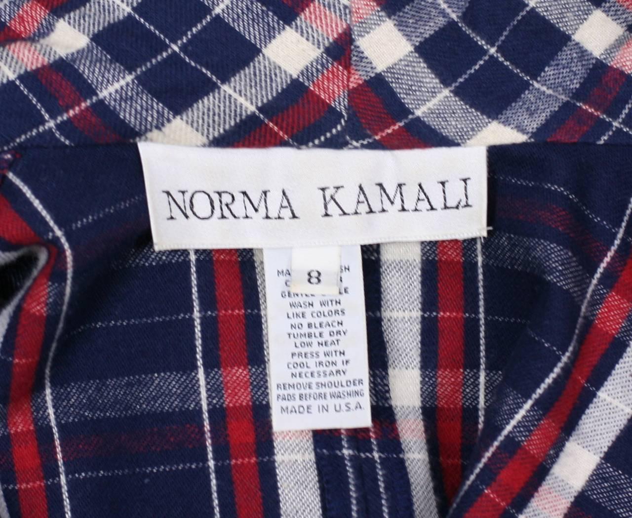 Norma Kamali's Patriotic Flannel Shirtwaist 2