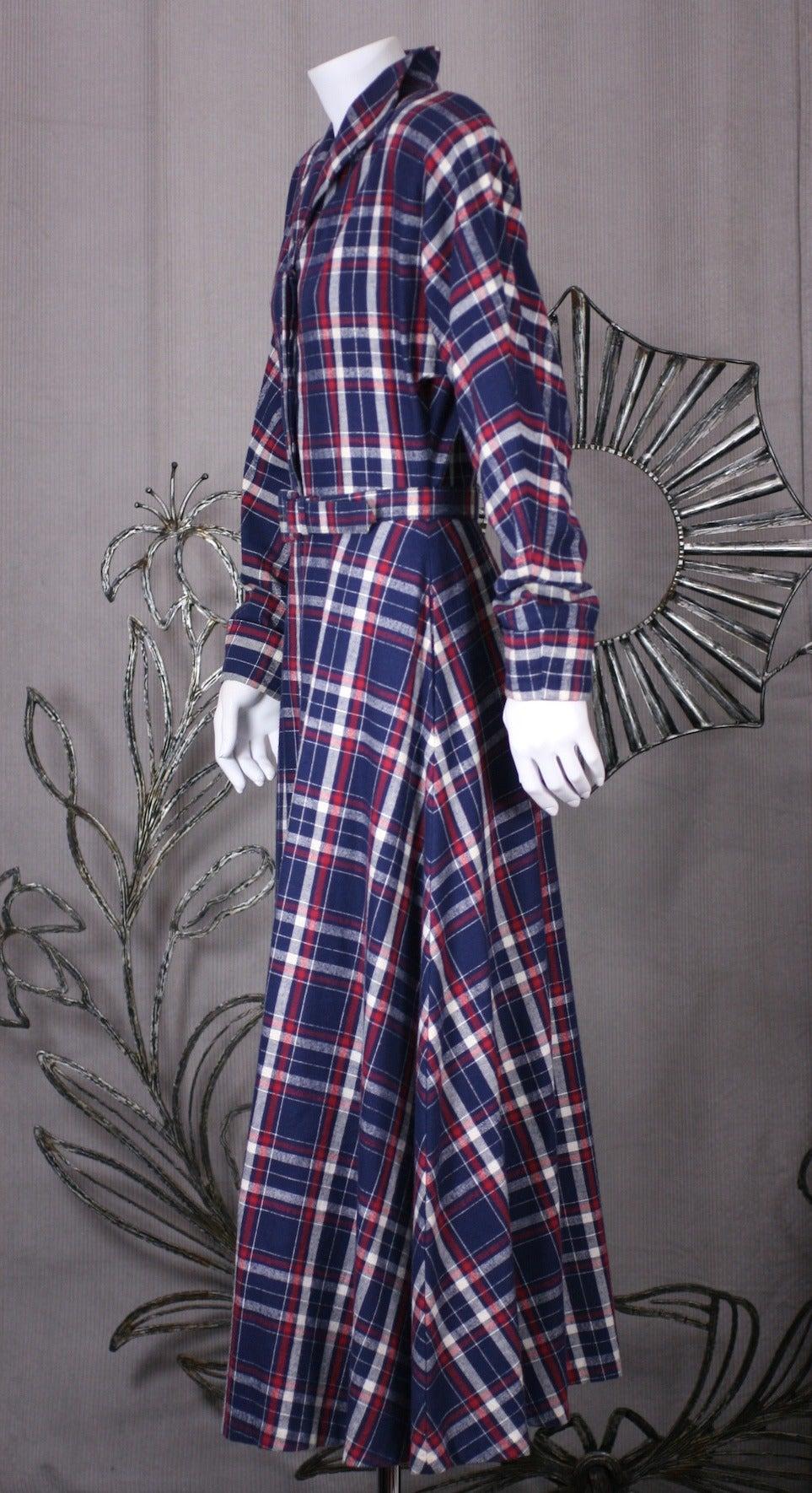 Black Norma Kamali's Patriotic Flannel Shirtwaist