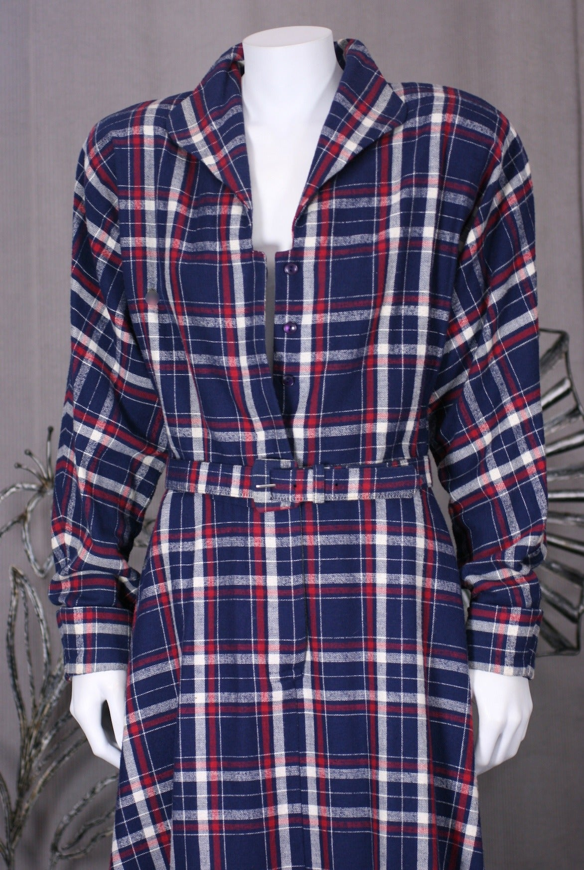 Norma Kamali's Patriotic Flannel Shirtwaist 1
