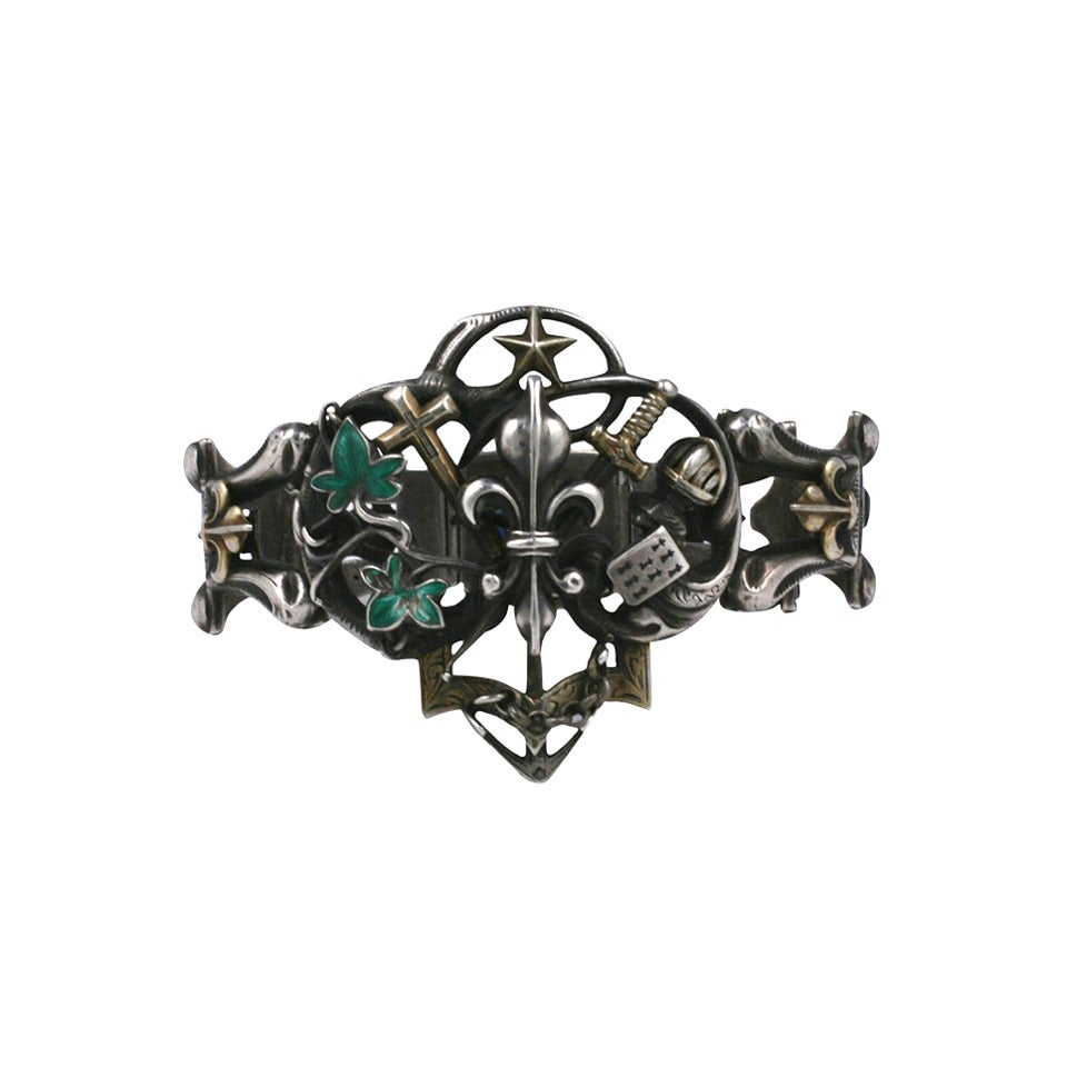 Rare Gothic Revival Bracelet 1