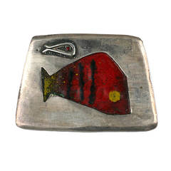 Betty Cooke Modernist  Minnow Brooch