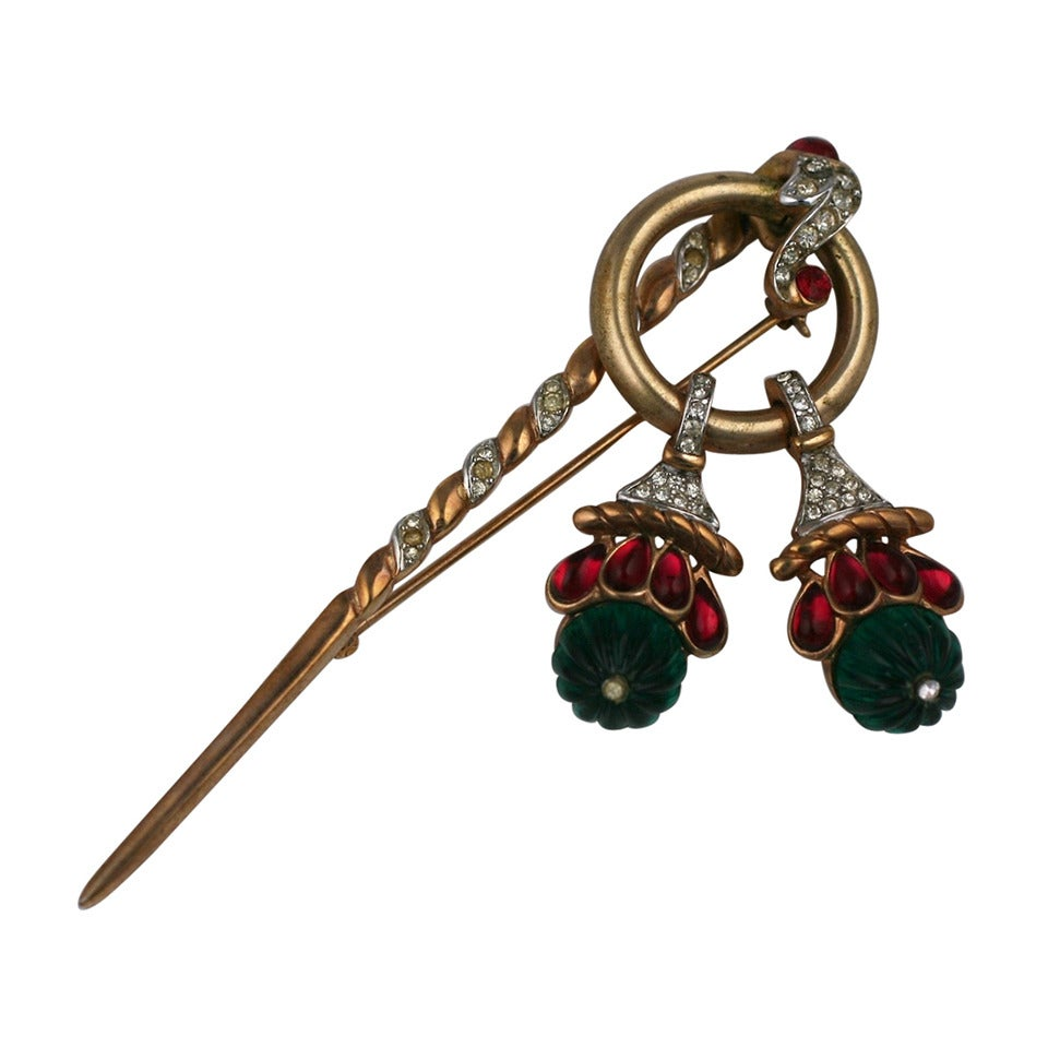 Trifari Jewels of India Brooch For Sale