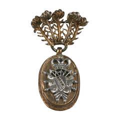 Nettie Rosenstein Heraldic Crest Articulated Brooch