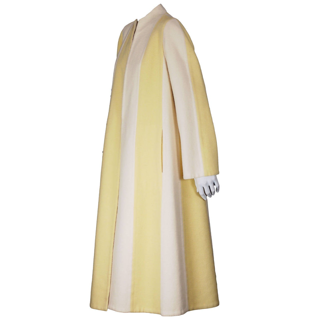 Pauline Trigere Double Faced Spliced Coat