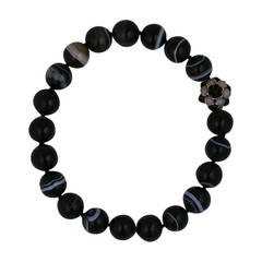 Banded Agate Zinnia Necklace, MWLC