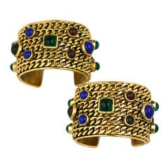 Exceptional Pair of Chanel Chain Cuffs