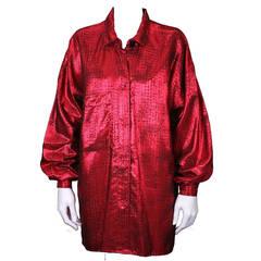 Elizabeth de Senneville Lame Shirt