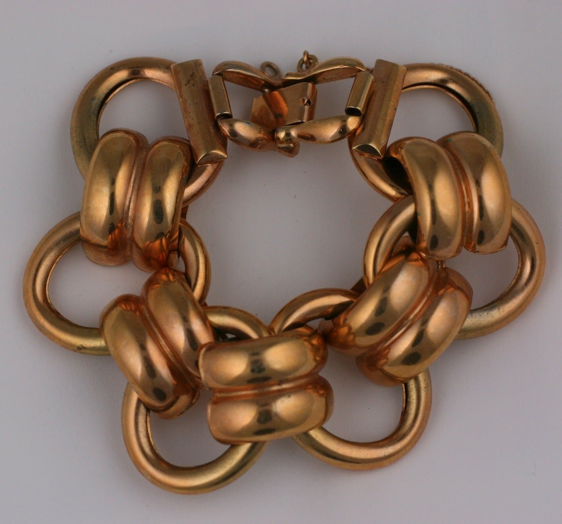 Windsor Retro Link Bracelet In Excellent Condition For Sale In Riverdale, NY