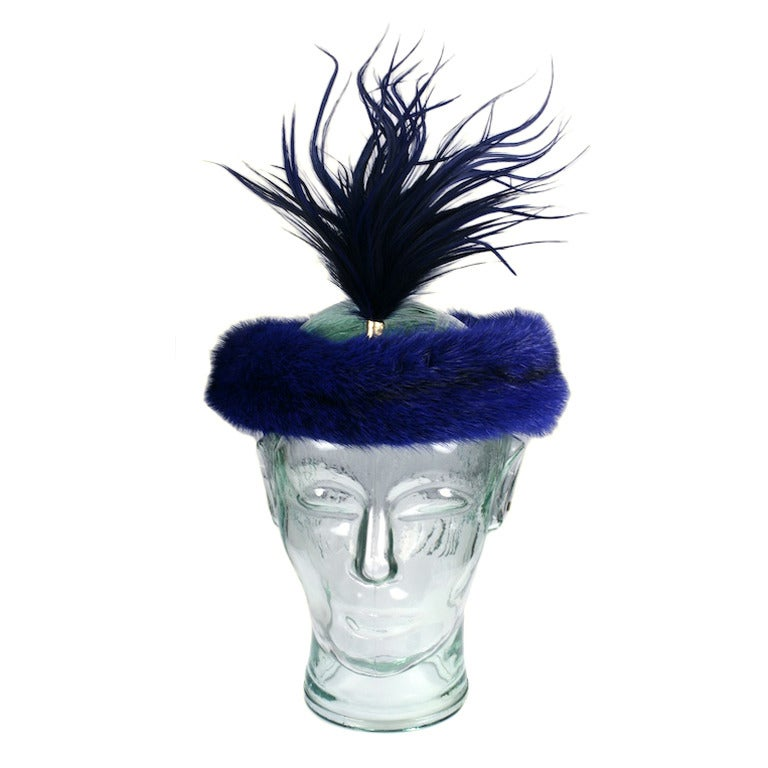 Christian Dior Haute Couture Mink Head Piece 1