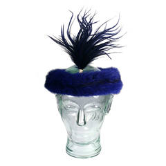 Christian Dior Haute Couture Mink Head Piece