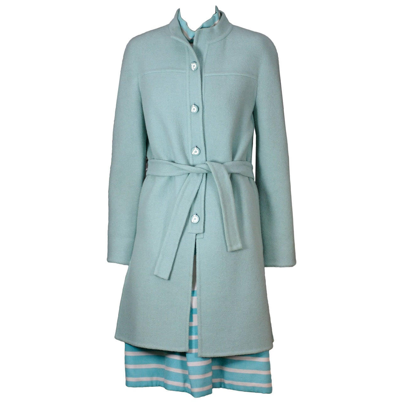 Jean Patou by Karl Lagerfeld Coat and Dress Ensemble