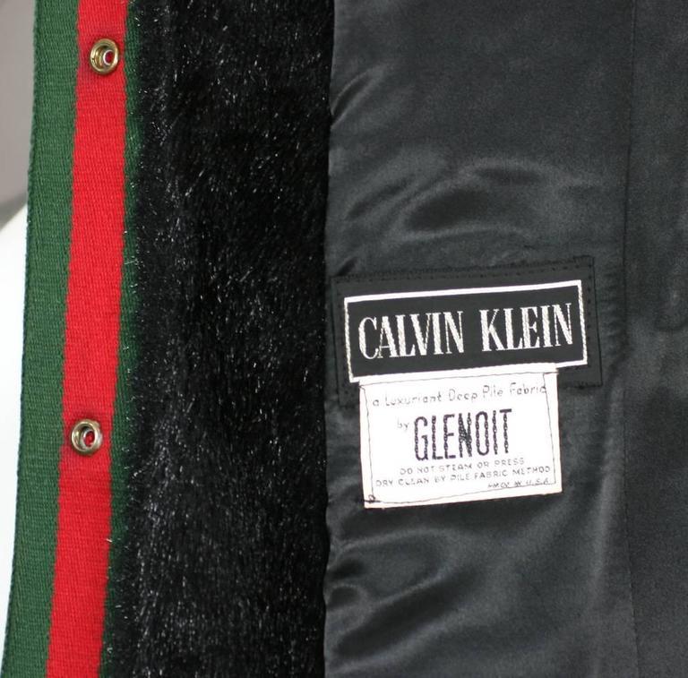 Women's Calvin Klein Faux Fur Coat For Sale