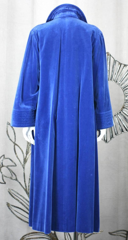 Yves Saint Laurent Rive Gauche Velvet Chinese Coat For