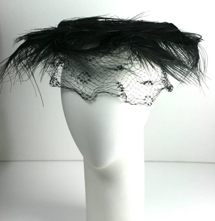 Egret Feather Swirled Fascinator 3