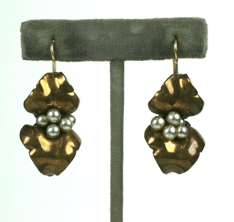 Women's Unusual Artisan Cala Lily Earrings For Sale