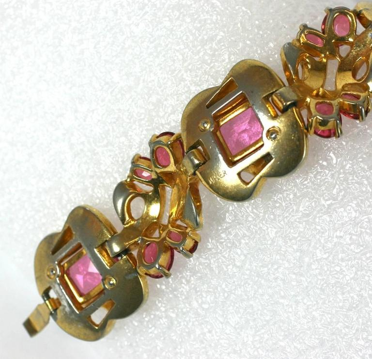 Women's Mazer Pink Retro Link Bracelet For Sale