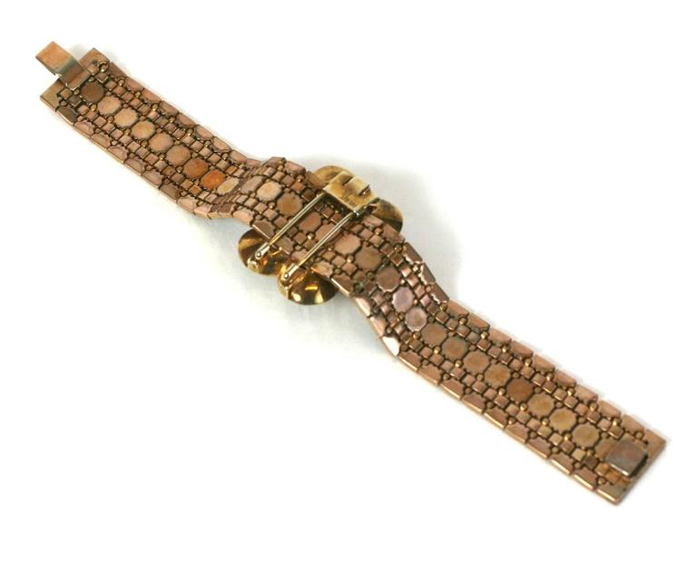 Trifari Retro Faux Ruby Transformation Bracelet In Excellent Condition For Sale In Riverdale, NY