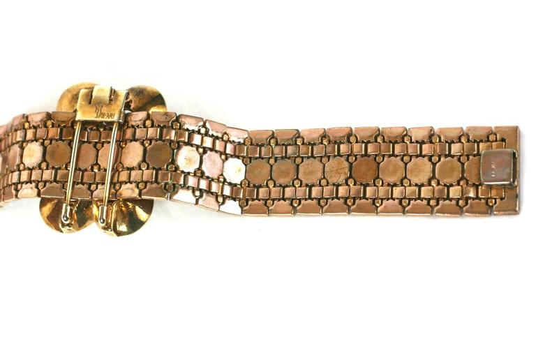 Women's Trifari Retro Faux Ruby Transformation Bracelet For Sale