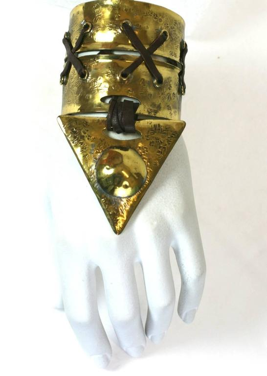 Hand hammered Cuffs, Claire Deve for Claude Montana 4