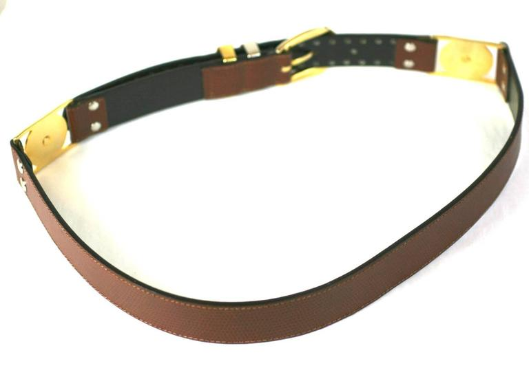 Gianni Versace Studded Medusa Mens Belt In Excellent Condition For Sale In Riverdale, NY