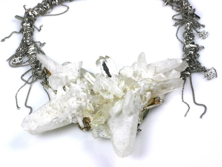 "Chanel Rock Crystal Runway ""Ice"" Necklace Fall 2010 In As new Condition For Sale In Riverdale, NY"