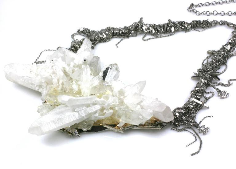 "Women's Chanel Rock Crystal Runway ""Ice"" Necklace Fall 2010 For Sale"