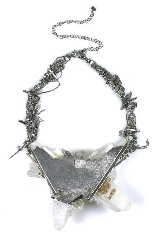 "Chanel Rock Crystal Runway ""Ice"" Necklace Fall 2010 For Sale 2"