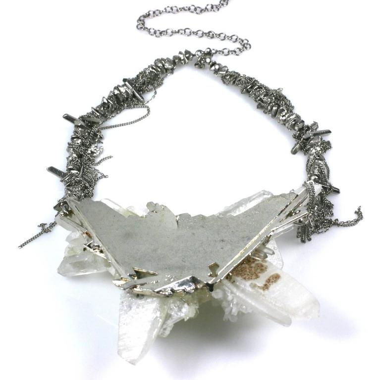 "Chanel Rock Crystal Runway ""Ice"" Necklace Fall 2010 For Sale 3"