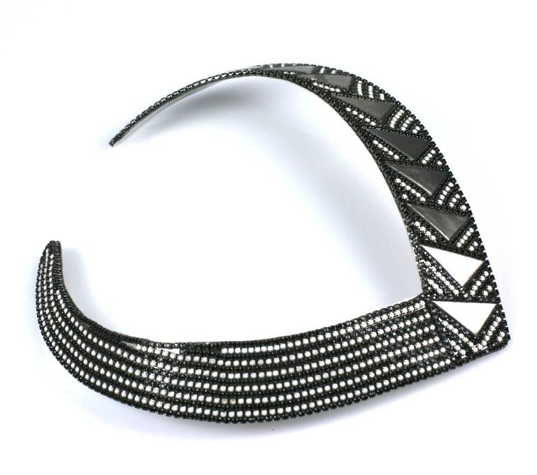 Roxanne Assoulin Deco Style Collar In Excellent Condition For Sale In Riverdale, NY