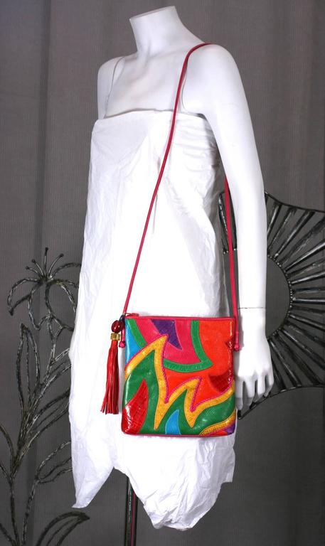 Sharif Vibrant Pieced Shoulder Bag In Excellent Condition For Sale In Riverdale, NY