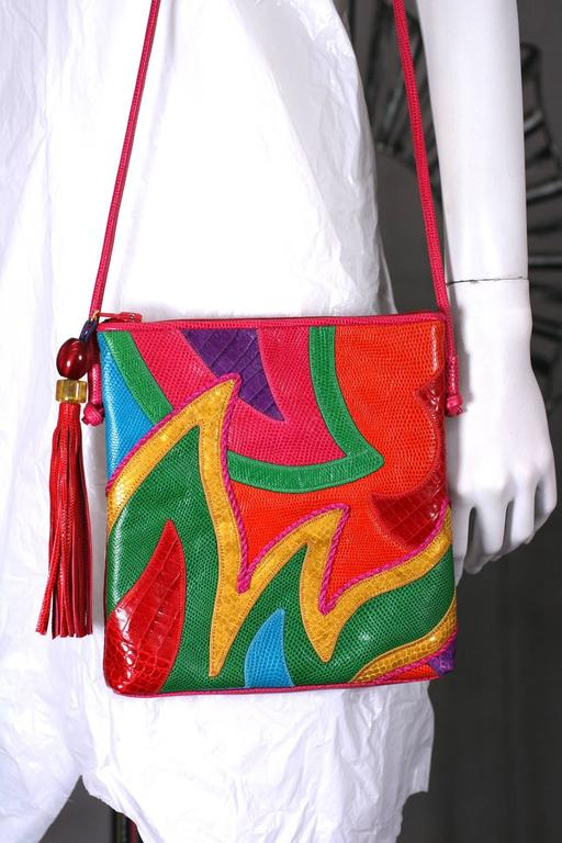 Women's Sharif Vibrant Pieced Shoulder Bag For Sale