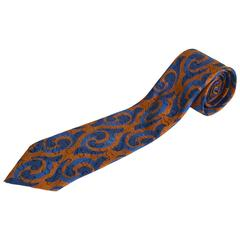 Pierre Balmain Silk Satin Jacquard Men's Tie, 1980s