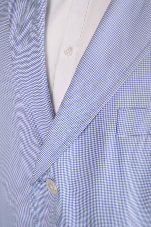 Ralph Lauren Men's Made in Italy Gingham Cotton Blazer, 1980s 4