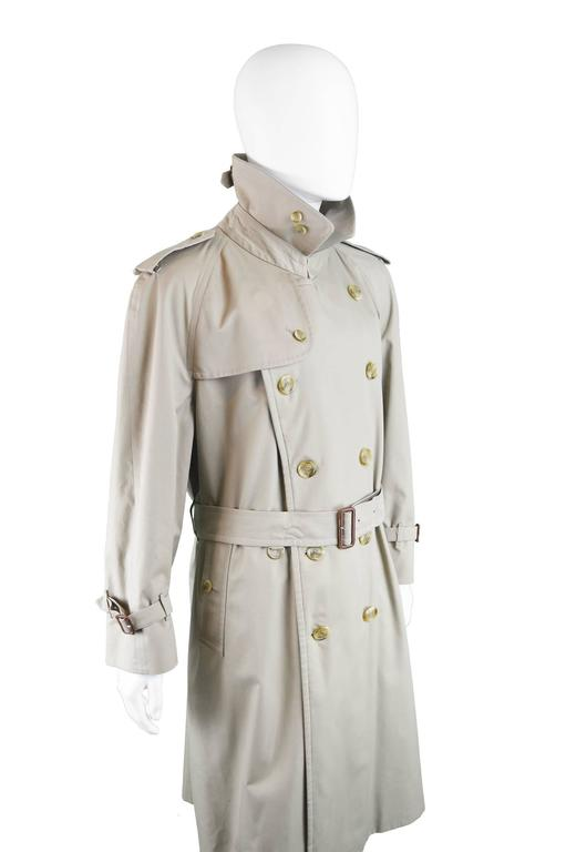 vintage mens double breasted trench coat