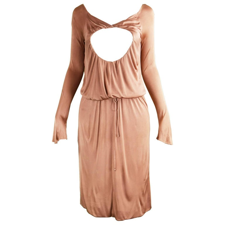 Alexander McQueen Nude Jersey 'Pantheon as Lecum' Jersey Dress, A/W 2004 For Sale