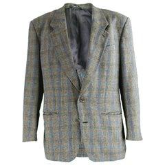 Missoni Uomo Vintage Men's Multicoloured Checked Wool Sport Coat, 1980s