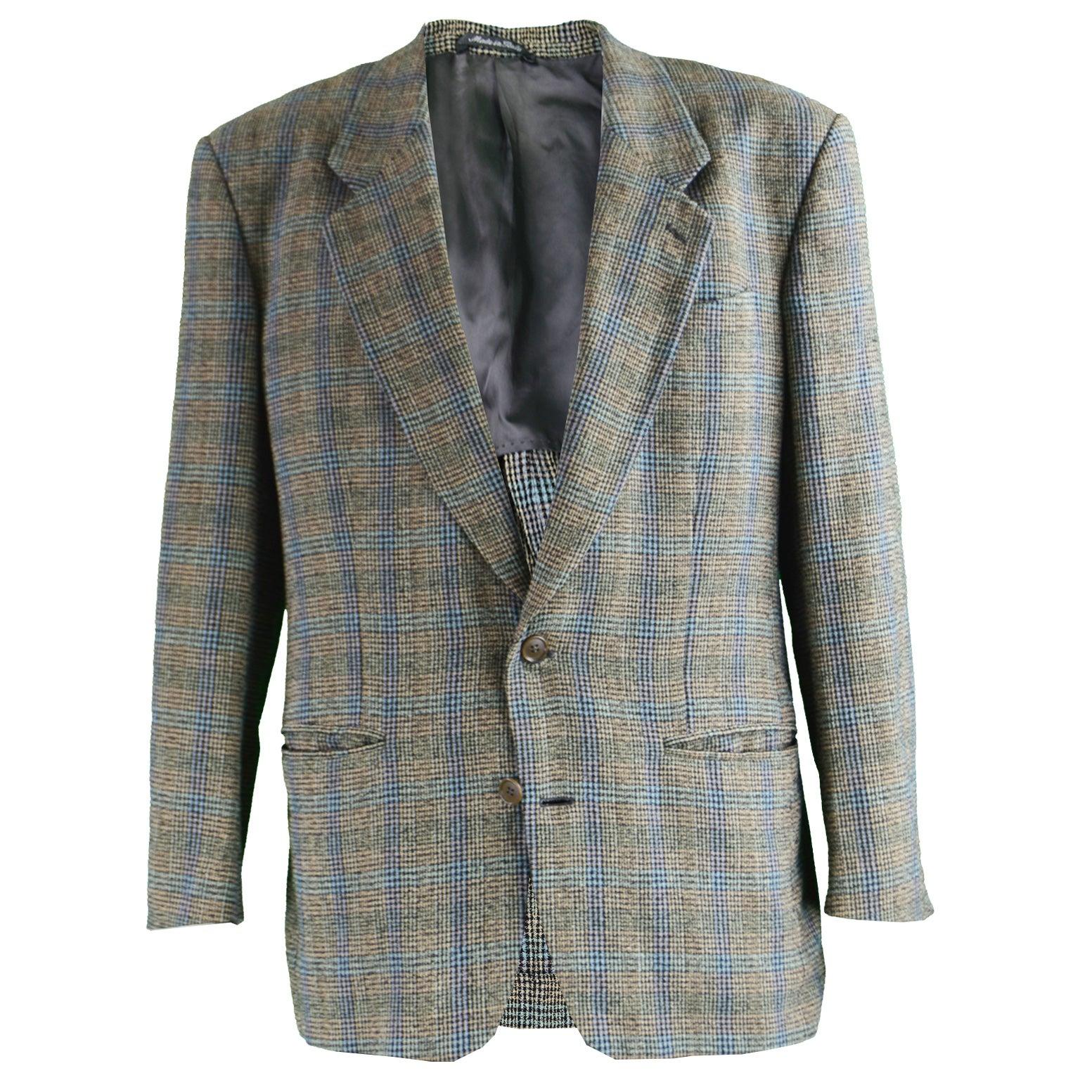 wholesale dealer 224cb b0812 Missoni Uomo Vintage Men's Multicoloured Checked Wool Sport Coat, 1980s