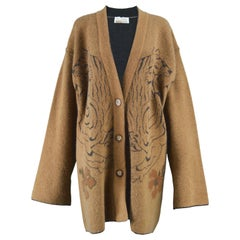 Krizia Twin Tiger 'Animal Series' Oversized Knit Vintage Cardigan, 1980s