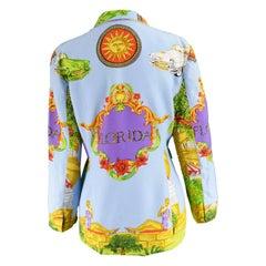 Kamosho by Marina Sitbon Vintage 'Florida' Print Blazer Jacket, 1990s