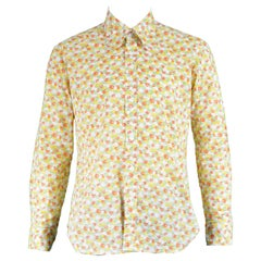 Take 6 of Carnaby Street Vintage Apple Print Cotton Long Sleeve Shirt, 1960s